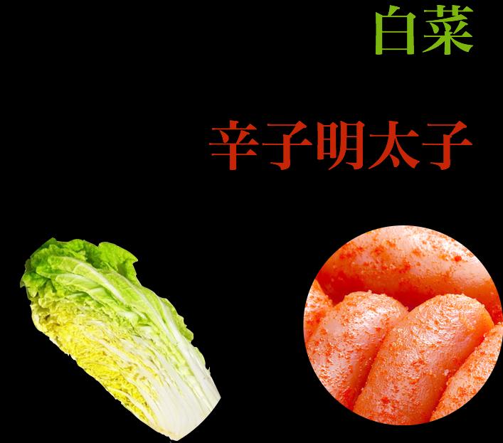 国産のみずみずしい白菜×鳴海屋の辛子明太子